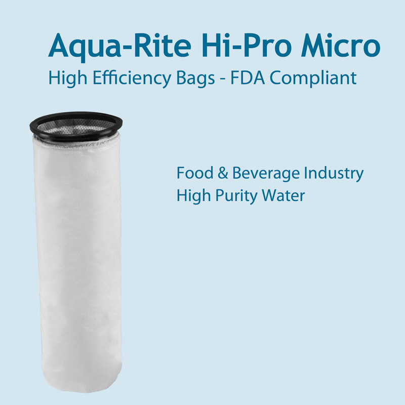 Filter, liquid filtration, cartridges, Strainrite, filter bag, hpm, hi-pro micro, high performance, aqua-rite, fda compliant