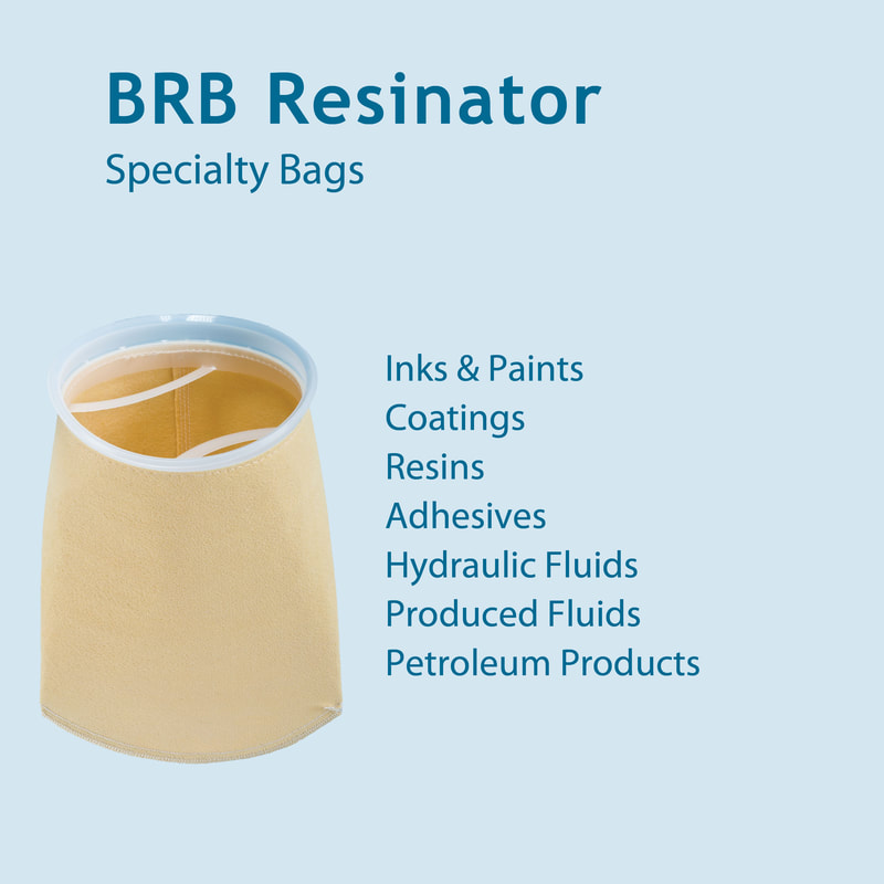 Filter, liquid filtration, cartridges, Strainrite, filter bag, brb, resinator, resin-bonded felt, added area, brb-aa