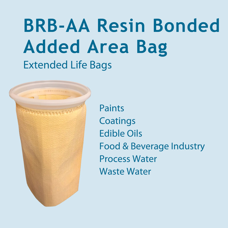 Filter, liquid filtration, cartridges, Strainrite, filter bag, Additional Area, aa, brb-aa, resin-bonded, resinator