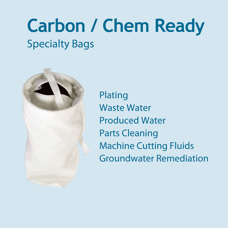Filter, liquid filtration, cartridges, Strainrite, filter bag, carbon ready, chem ready, chemical ready