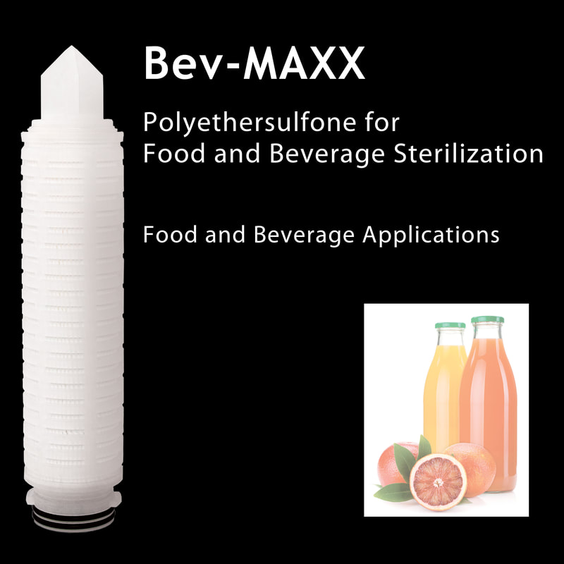 Filter, Clarity, liquid filtration, cartridges, Strainrite, pleated, specialty, polyethersulfone, bev-maxx, bvm, food beverage sterilization