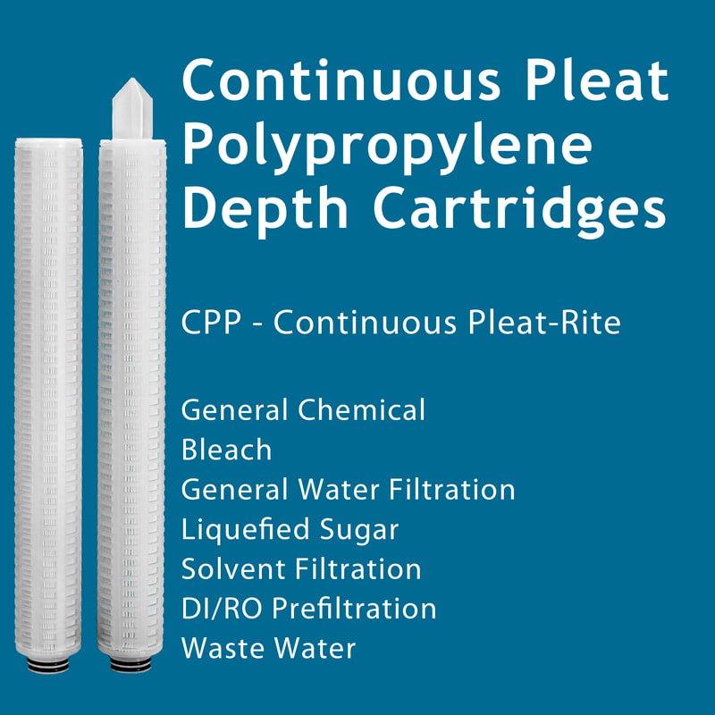 Filter, Clarity, liquid filtration, cartridges, Strainrite, pleated, depth, continuous, polypropylene, cpp