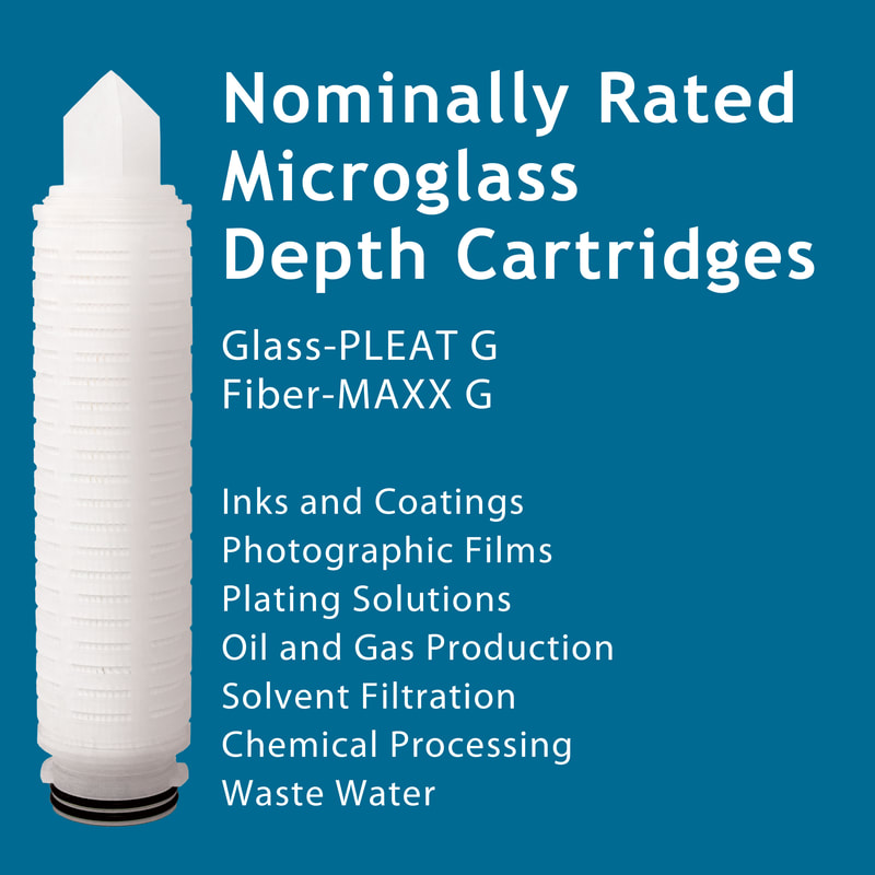 Filter, Clarity, liquid filtration, cartridges, Strainrite, pleated, glass-pleat, fiber-maxx, depth, microglass, nominally rated