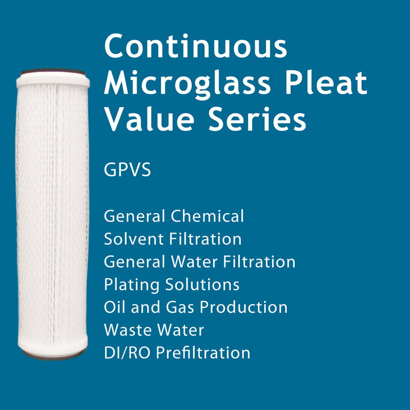 Filter, Clarity, liquid filtration, cartridges, Strainrite, pleated, depth, continuous, microglass, value series, gpvs
