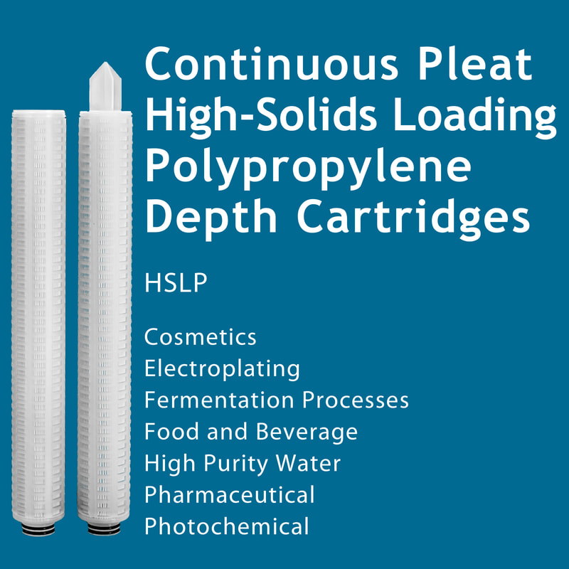 Filter, Clarity, liquid filtration, cartridges, Strainrite, pleated, depth, continuous, high solids loading, hslp, polypropylene