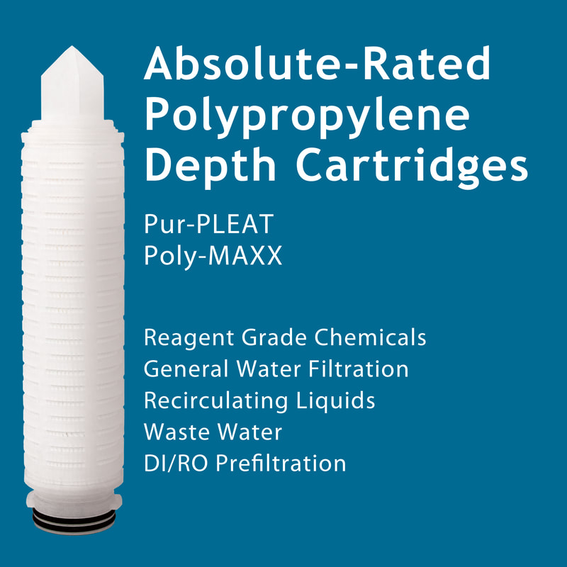 Filter, Clarity, liquid filtration, cartridges, Strainrite, pleated, pur-pleat, poly-maxx, depth, polypropylene, absolute-rated