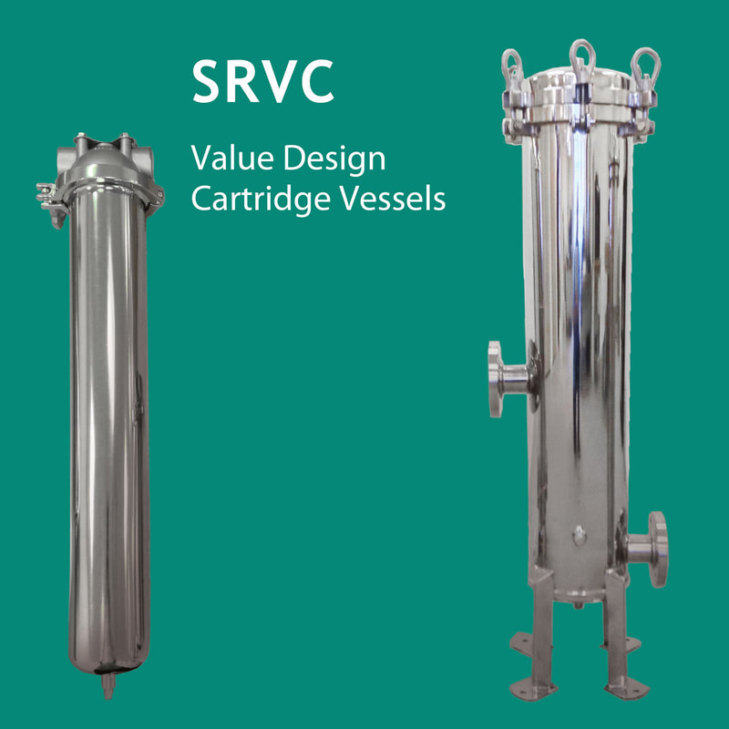 Filter, liquid filtration, Strainrite, Clarity, filter vessels, vessels, housing, cartridge, value design, srvc
